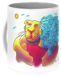 Lion Hug Coffee Mug