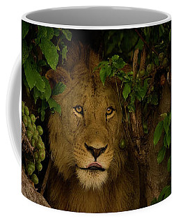 Lion In A Tree-signed-#9841 Coffee Mug