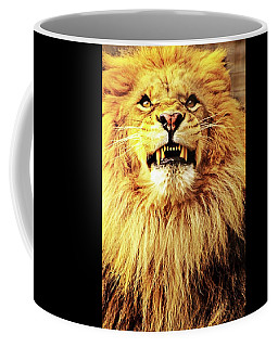 Coffee Mug featuring the photograph Lion King Smiling by Ayasha Loya