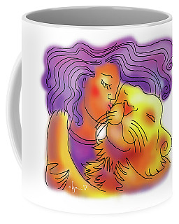 Lion Kiss Coffee Mug