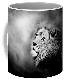 Lion - Pride Of Africa II - Tribute To Cecil In Black And White Coffee Mug