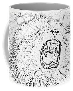 Lion Roar Drawing Coffee Mug