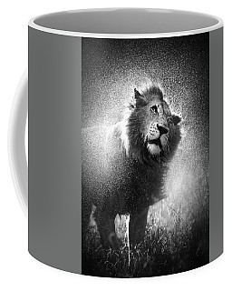 Lion Shaking Off Water Coffee Mug
