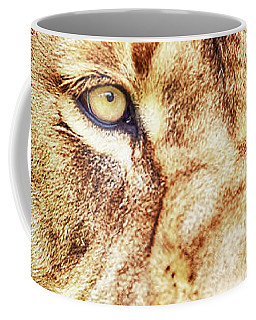 Lion-the King Of The Jungle Large Canvas Art, Canvas Print, Large Art, Large Wall Decor, Home Decor Coffee Mug by David Millenheft