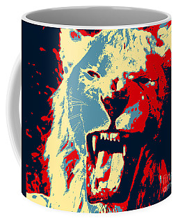 Warhol Lion Coffee Mug by John Rizzuto