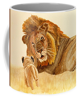 Lion Watercolor Coffee Mug