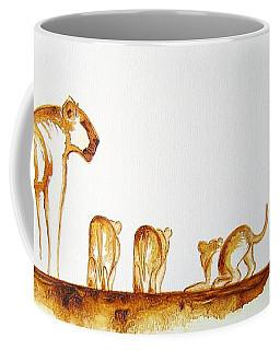 Lioness And Cubs Small - Original Artwork Coffee Mug