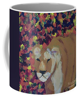 Coffee Mug featuring the painting Lioness Pride 1 Of 6 by Donald J Ryker III
