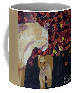 Coffee Mug featuring the painting Lioness' Pride 3 Of 6 by Donald J Ryker III