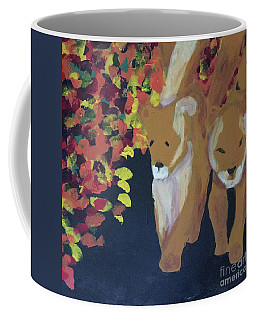 Coffee Mug featuring the painting Lioness' Pride 4 Of 6 by Donald J Ryker III