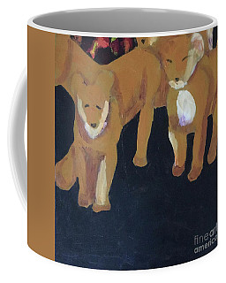 Coffee Mug featuring the painting Lioness' Pride 5 Of 6 by Donald J Ryker III