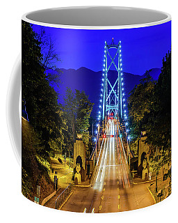 Lions Gate Bridge At Night Coffee Mug