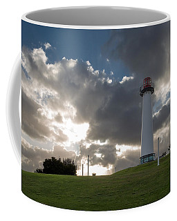 Lion's Lighthouse For Sight - 2 Coffee Mug by Ed Clark
