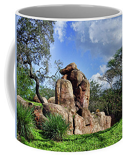 Lions On The Rock Coffee Mug by B Wayne Mullins
