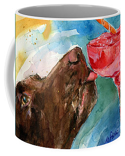 Coffee Mug featuring the painting Lip Smack Daq by Molly Poole