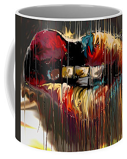 Coffee Mug featuring the digital art Lips Say It All by Darren Cannell
