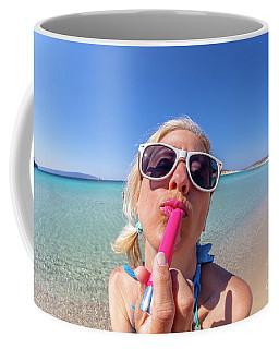 Lipstick Applying Coffee Mug