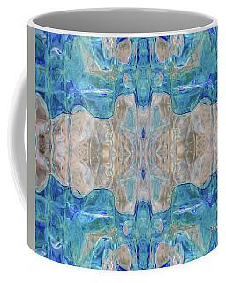 Coffee Mug featuring the digital art Liquid Abstract  #0060-2 by Barbara Tristan