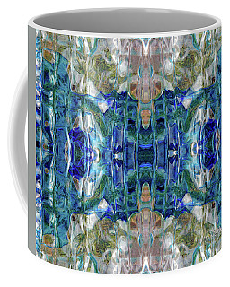 Coffee Mug featuring the digital art Liquid Abstract #0061_1 by Barbara Tristan