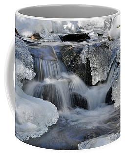 Winter Waterfall In Maine Coffee Mug by Glenn Gordon