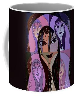 Coffee Mug featuring the mixed media Lisa by Ann Calvo