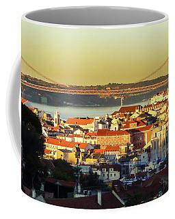 Lisbon At Sunrise Coffee Mug