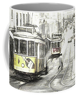 Lisbon Trams Sketch Coffee Mug