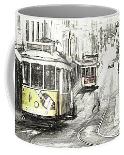 Lisbon Trams Sketch Coffee Mug