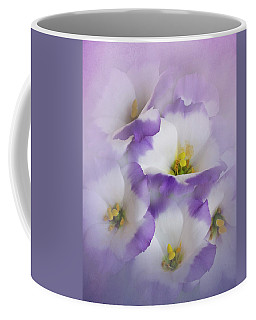 Coffee Mug featuring the photograph Lisianthus Grouping by David and Carol Kelly