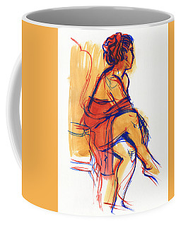 Coffee Mug featuring the painting Listening by Judith Kunzle
