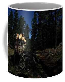 Lit Log Along The Trail Coffee Mug