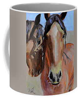Coffee Mug featuring the painting Litchfield Homies by Pattie Wall