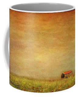 Coffee Mug featuring the photograph Little Barn On The Hill by Wallaroo Images