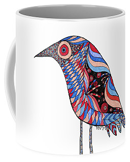Coffee Mug featuring the drawing Little Bird by Barbara McConoughey