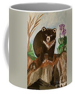 Coffee Mug featuring the photograph Little Black Bear by Maria Urso