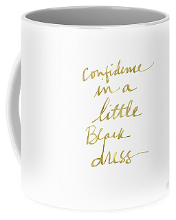 Little Black Dress Gold- Art By Linda Woods Coffee Mug