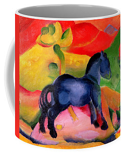 Little Blue Horse Coffee Mug