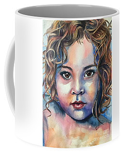Coffee Mug featuring the painting Little Cherub by Michal Madison