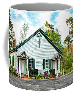 Coffee Mug featuring the photograph Little Church In The Pines by Kristia Adams