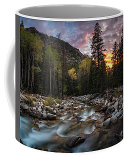 Coffee Mug featuring the photograph Little Cottonwood Creek Fall Sunset by James Udall