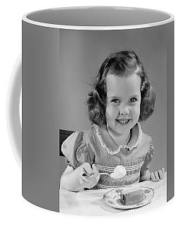 Little Girl Eating Ice Cream, C.1950s Coffee Mug