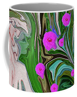 Little Girl In The Garden Coffee Mug