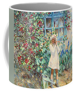 Little Girl With Roses  Coffee Mug
