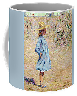 Little Girl With Blue Dress Coffee Mug