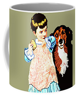 Little Girl With Hungry Mutt Coffee Mug