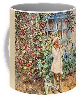 Little Girl With Roses  Coffee Mug