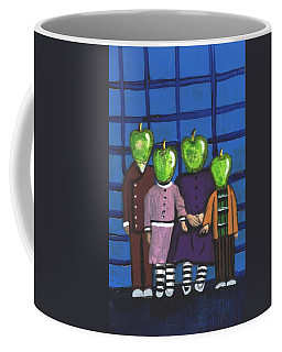 Little Green Apple Head Kids Coffee Mug