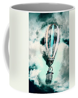 Little Hot Air Balloon Pendant And Clouds Coffee Mug