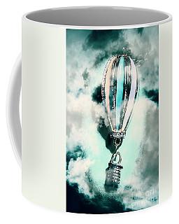 Little Hot Air Balloon Pendant And Clouds Coffee Mug