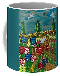 Coffee Mug featuring the painting Little House In Menominee. by Jonathon Hansen